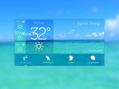 Sunny Guadeloupe weather ui sunny beach sun meteo guadeloupe island dom sainte-anne sky sea