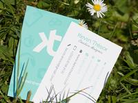 KT Design Business cards
