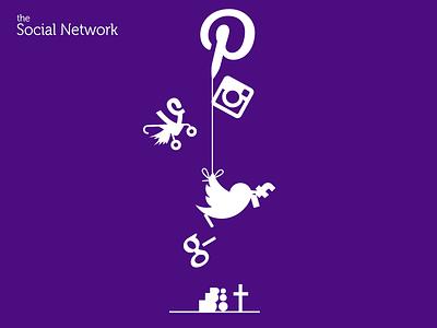 The social network graphicdesign original composition funny twitter pinterest vine myspace facebook googleplus instagram
