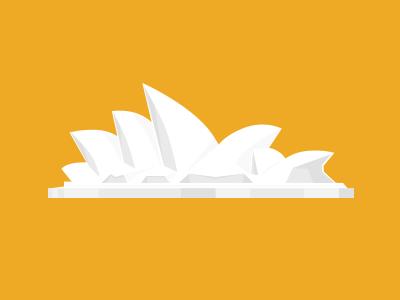 Sydney Opera shadows graphicdesign illustration flat sydney opera monument australia