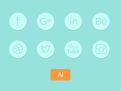Fine Social Line Icons attachement illustrator line webdesign graphicdesign social icons