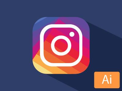 New Instagram logo graphicdesign flat refont instagram icon social logo