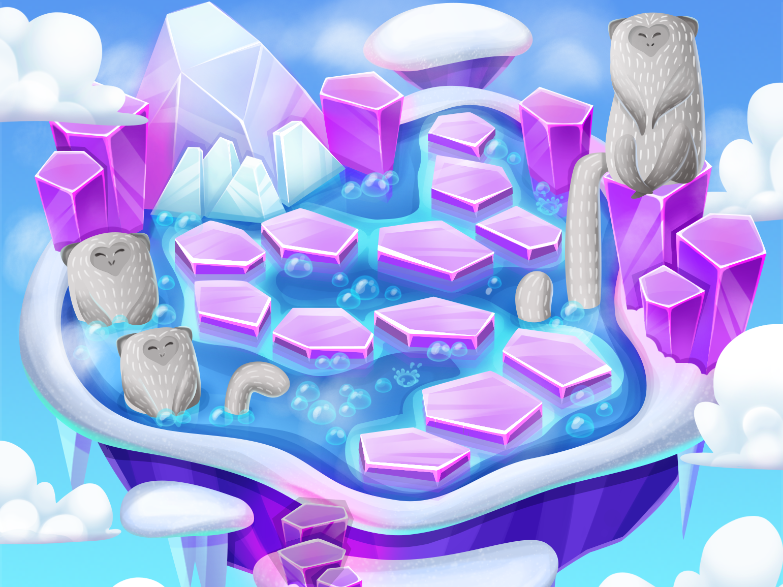 Monkeyisland level photoshop game artist vector illustration