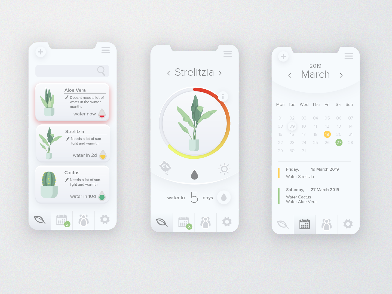 Plant care app minimal typography photoshop vector flat web icon ux user experience design adobe illustrator iphone 4 app plant care userinterfacedesign ui user inteface