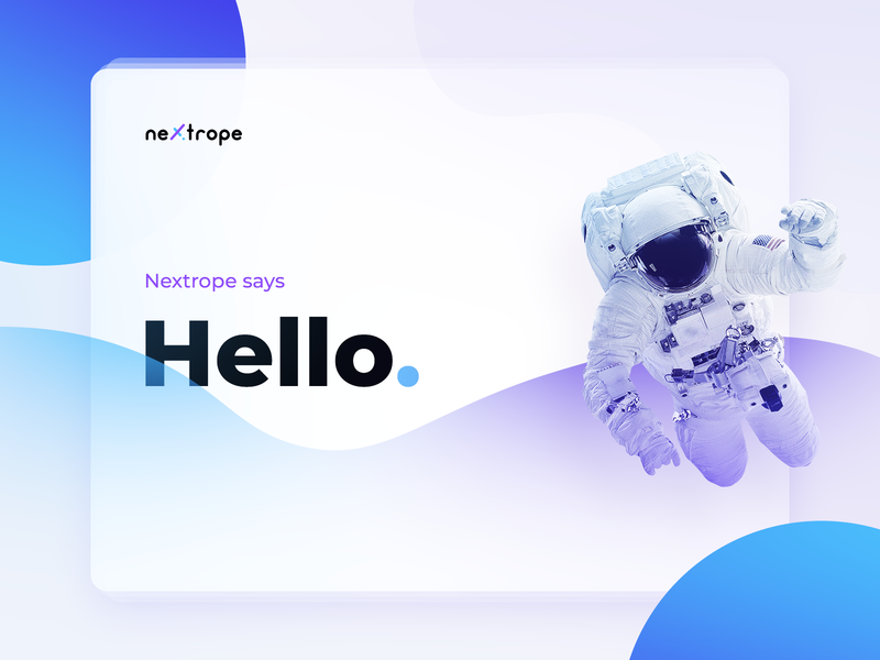Hello Dribbble space astronaut cosmos hello nextrope hello dribbble hello dribble