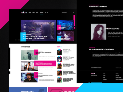 Branding and Design for a lifestyle media outlet Skrr.pl