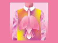 Breathe Deeper 🌬️ tie bird lungs album cover tame impala grain gradient colorful digitalart vector illustration