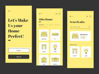 Otto Home App UI/UX Interaction Design