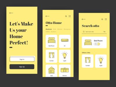 Otto Home App UI/UX Interaction Design