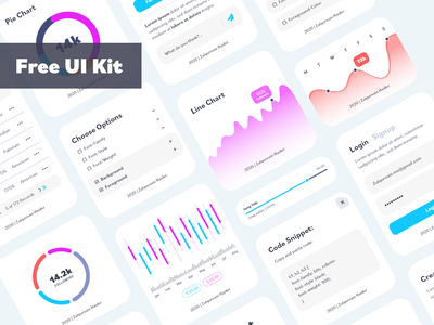 Free UI Element Kit (Adobe XD) app adobe branding ui elements freebies dashboard ui dashboard app uidesign elements free uikit uiux freebie minimal ui  ux design