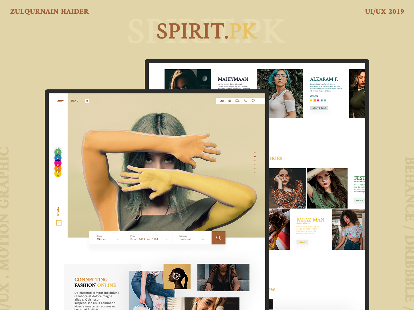 Spirit.Pk Web Design type minimal website app flat web illustrator art webside icon ux typography ui  ux design ui  ux branding photoshop adobe design ui creative design
