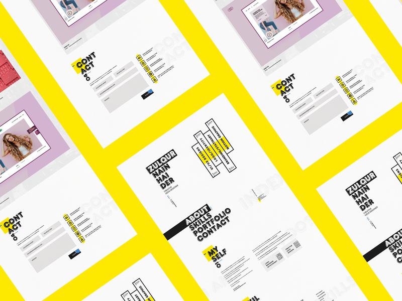 Resume & Portfolio 2019 minimal flat web art illustrator animation webside vector icon logo typography ux ui  ux branding ui  ux design photoshop adobe ui design creative design