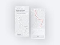 Skeuomorphism/Neumorphism Map Location UI Design