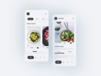 Skeuomorphism/Neumorphism Food App UI Design