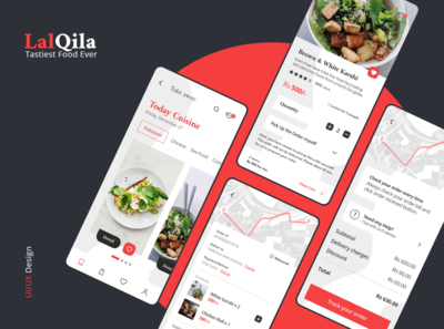 Restaurant App (LalQila) UX/UI Interaction Design