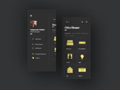 Skeuomorphism/Neumorphism Otto Home App UI Design