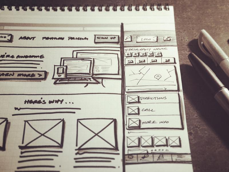 Interface Design Sketching sketch sketching wireframe practice notebook zurb interface