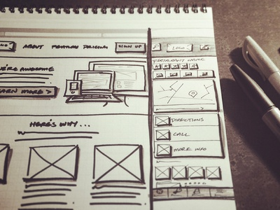 Interface Design Sketching sketch sketching wireframe practice notebook zurb interface