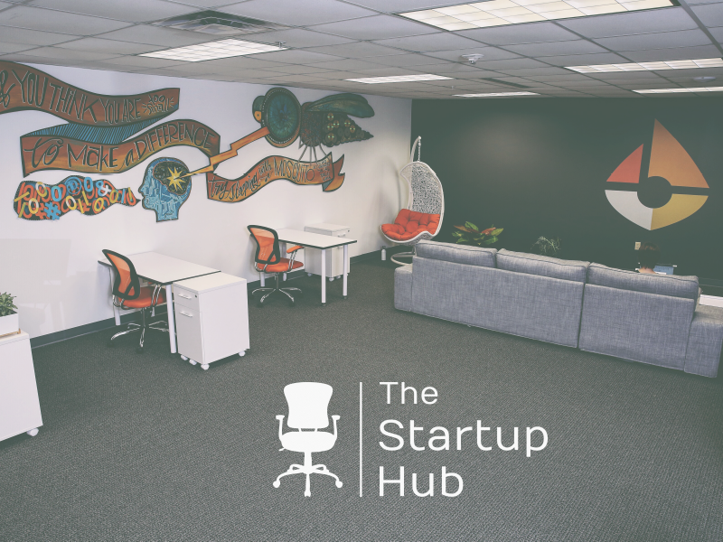 Startup Hub identity identity brand workspace chair mark logo