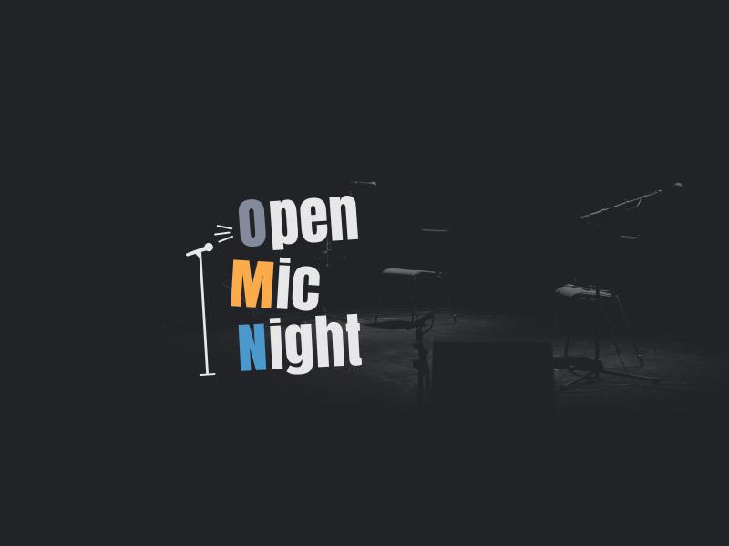 Open Mic Night event mark identity