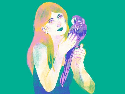 Parrot parrot bird doodling portrait digital illustration digitalart editorial illustration editorial illustration graphic tablet drawing photoshop