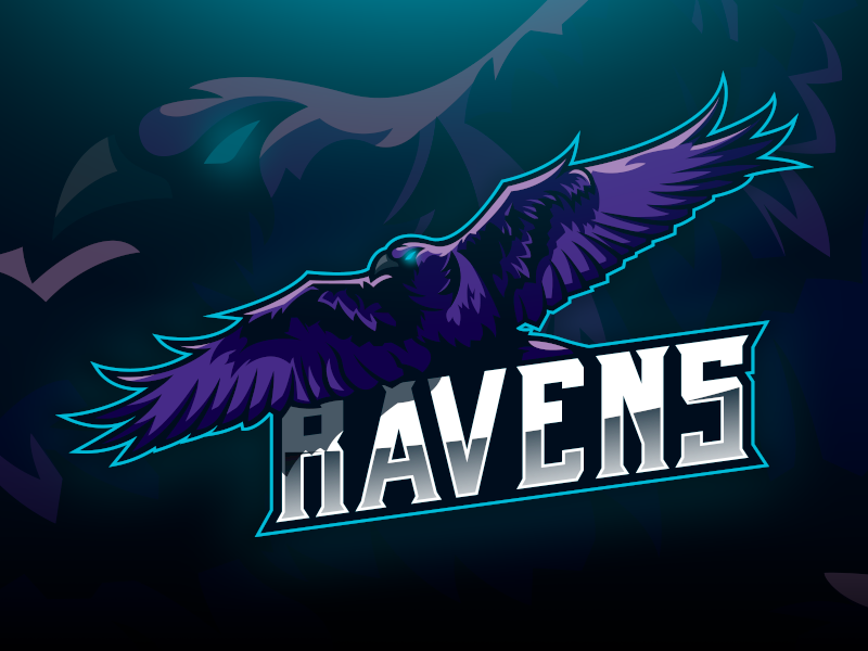 Raven Dribbble raven gaming logo esports logo e-sports esports e-sport esport brand badge angry vector mascot logo mascot design logodesign logo illustration