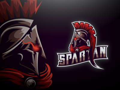 Spartan E-Sports Mascot Logo