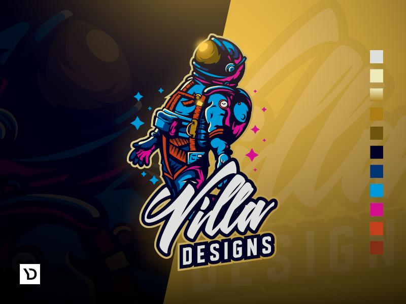 VillaDesigns Mascot Logo mascot character branding logo esport gaminglogo design character gaming logo esports logo e-sports esports e-sport esport brand badge vector mascot logo mascot design logodesign logo illustration