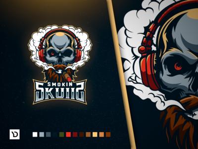 Smokin Skulls. ESports Mascot Logo