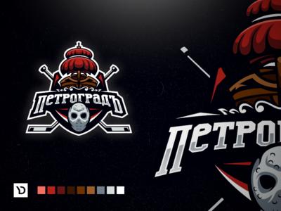 Petrograd. Hockey sports logo concept.