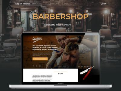 LandingPage Barbershop