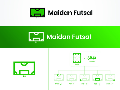 Maidan Futsal Logo Concept (For Sale)