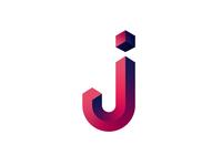 J Isometric Logo Colored