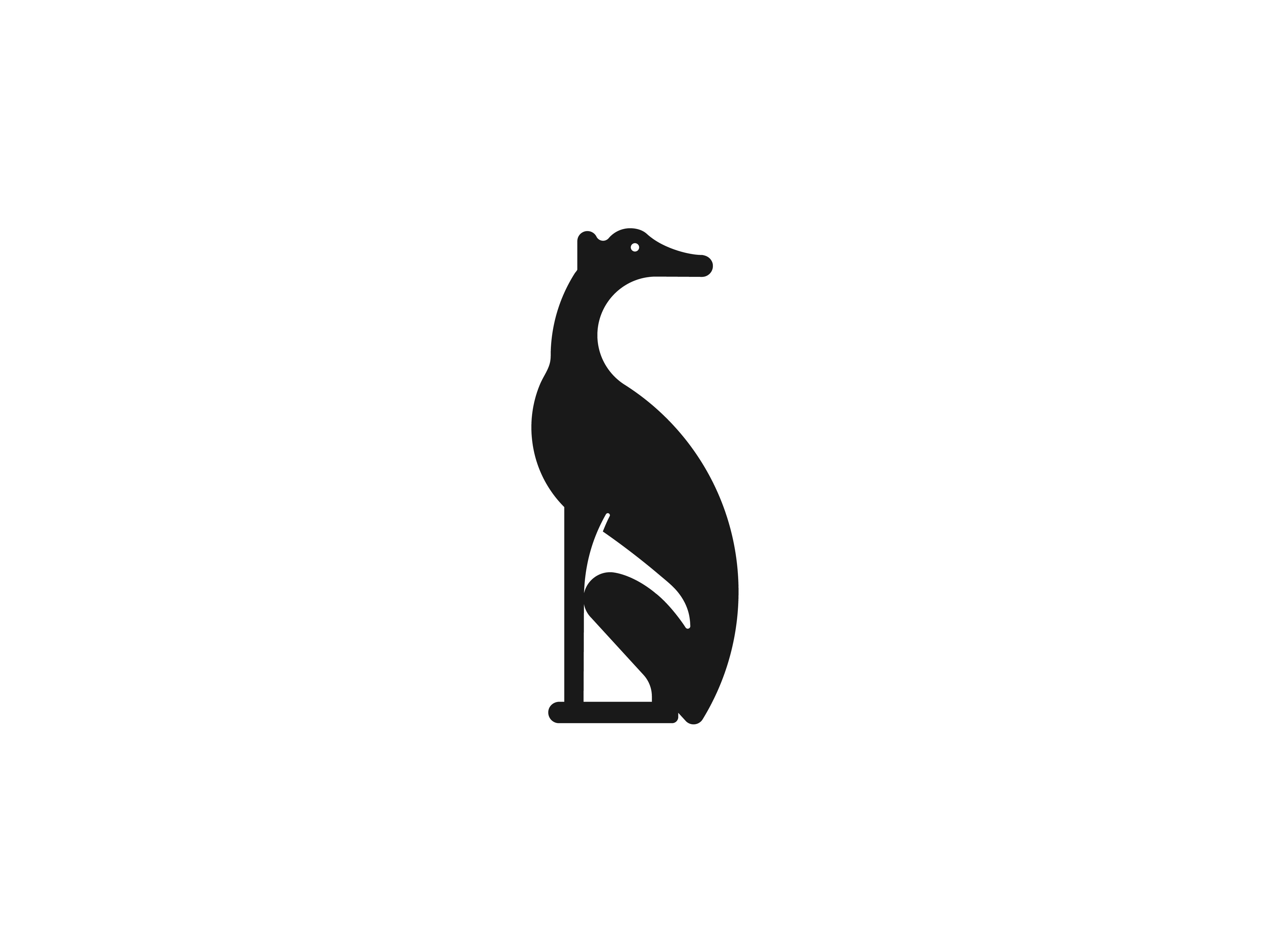 Greyhound Logo dog logo symbol mark monogram icon identity logotype logo animal breed sport running greyhound dog