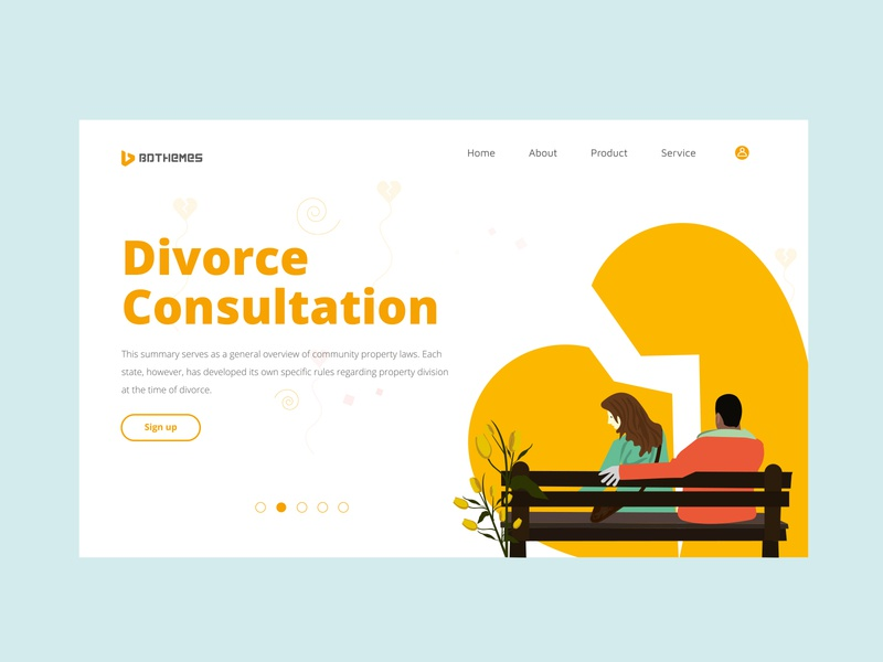 Divorce Consultation - a free theme for your inspiration. vector design ui template illustration hand crafted logodesign bdthemes modern design flat design