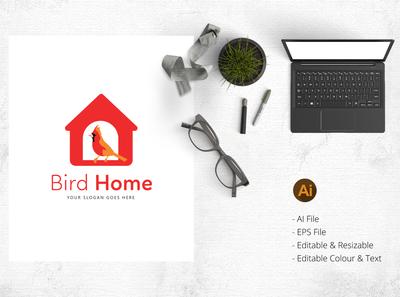 Bird Home - bird lover logo