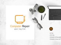 Computer repair / Hardware fixing logo