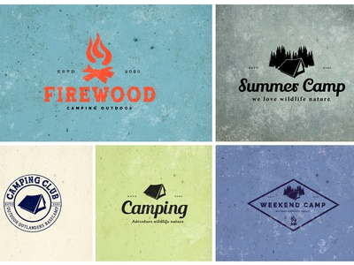 Typography Logo Camping-03 camping camping logo professional design hand crafted design logodesign modern design logo bdthemes flat design logo design