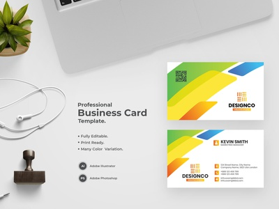 Business Card -37 bdthemes visit card flat design business card design visitingcard visiting card modern design professional design visiting card design professional business card