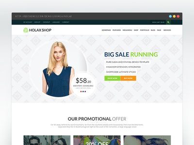 Holax Multipurpose Hikashop eCommerce Template
