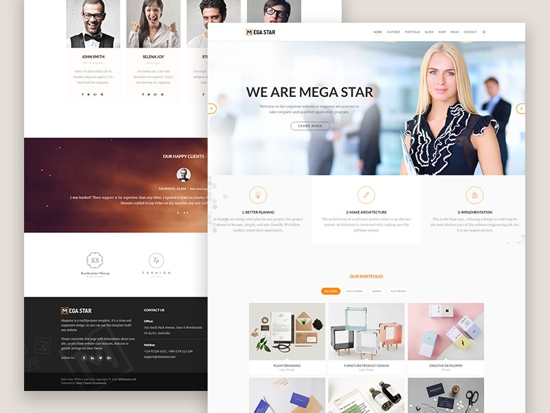 Megastar business joomla template by bdthemes dribbble megastar business joomla template flashek Image collections