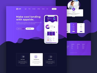 App landing page with element pack pro