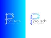 pro tech : technology relate logo