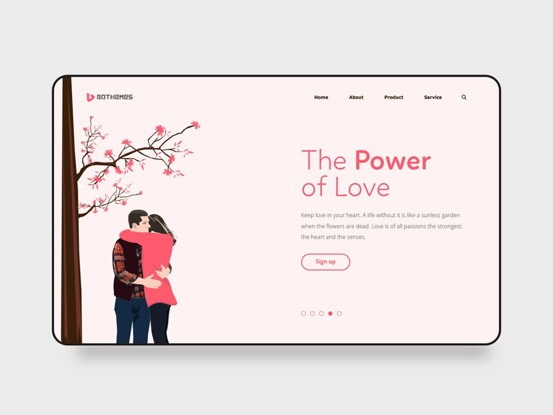 free template for your Valentine's day - The Power Of Love