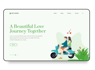 Free template  - Love is Beautiful webdesign illustration flat design