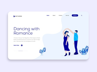 Dancing Romance - an romantic web template
