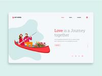 Boat Love - a romantic web illustration