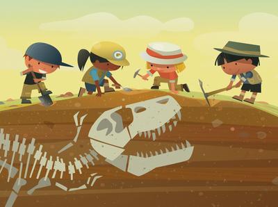 Here We Go Digging Dinosaur Bones