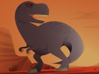 "The Tyrannosaurus from ""101 Dinosaurs"""