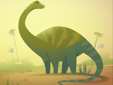 """The Apatosaurus from """"101 Dinosaurs"""""""